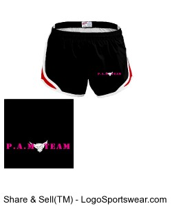 MJ Soffe Youth Girl's Team Shorty Shorts Design Zoom